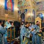 Slujba Acatistului Acoperământului Maicii Domnului, la Catedrala mitropolitană din Chișinău