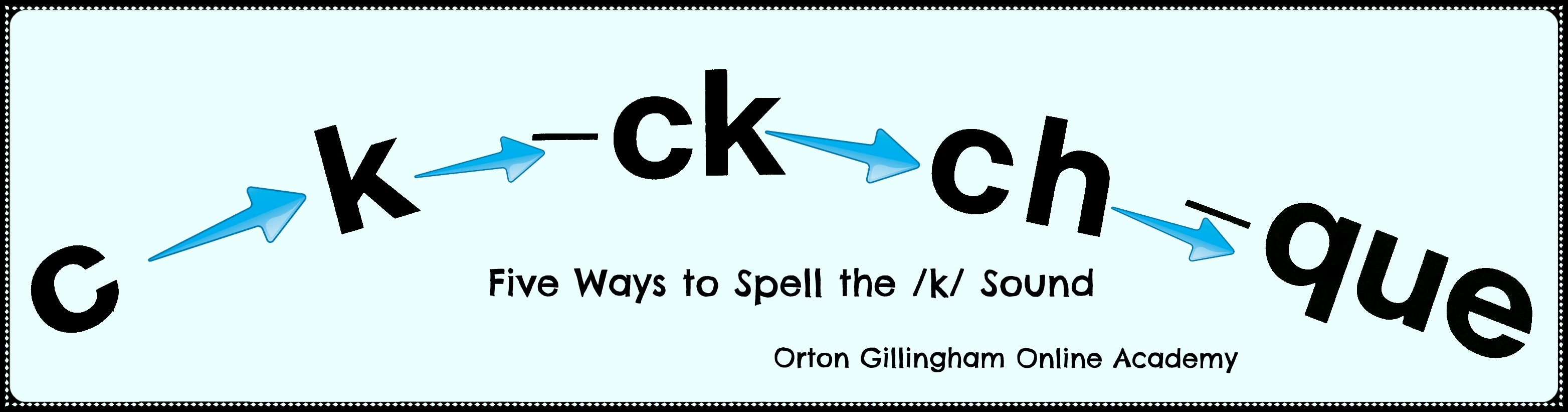 Five Spellings For The K Sound