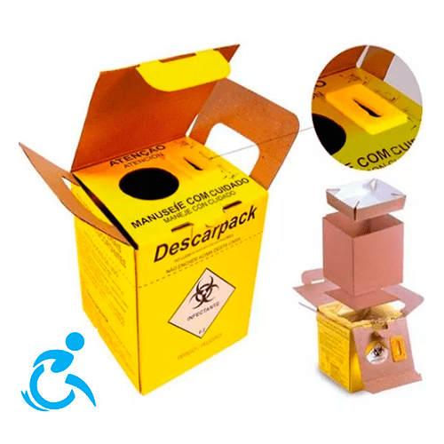 Caixa Coletor 1,5l Perfurocortante Agulha Descarpack - Ortopedia Online SP