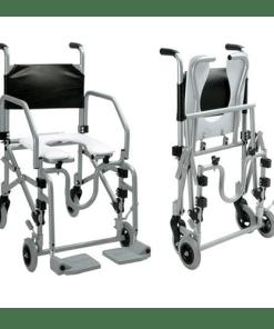 Cadeira de Banho Dobrável em Alumínio Jaguaribe - Ortopedia Online SP