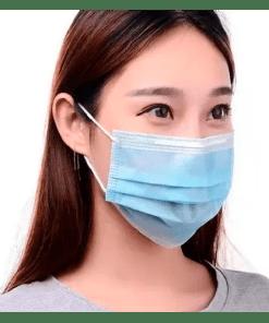 Máscara descartável de tripla proteção - caixa com 50 peças - Ortopedia Online SP
