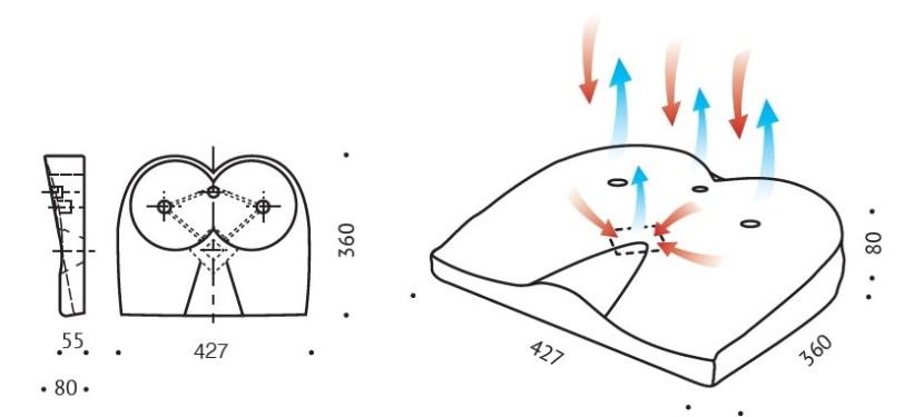 Klin ortopedyczny Sitta VALDE S1 wymiary
