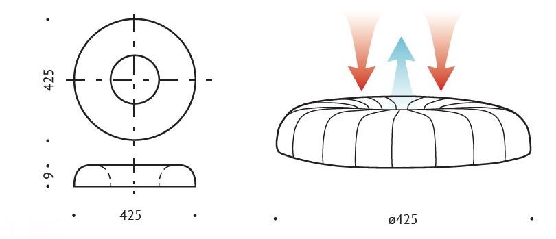 wymiar Poduszka klin ortopedyczny