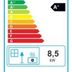 Ortrand 3020.61 Kachelofen Heizeinsatz Energielabel