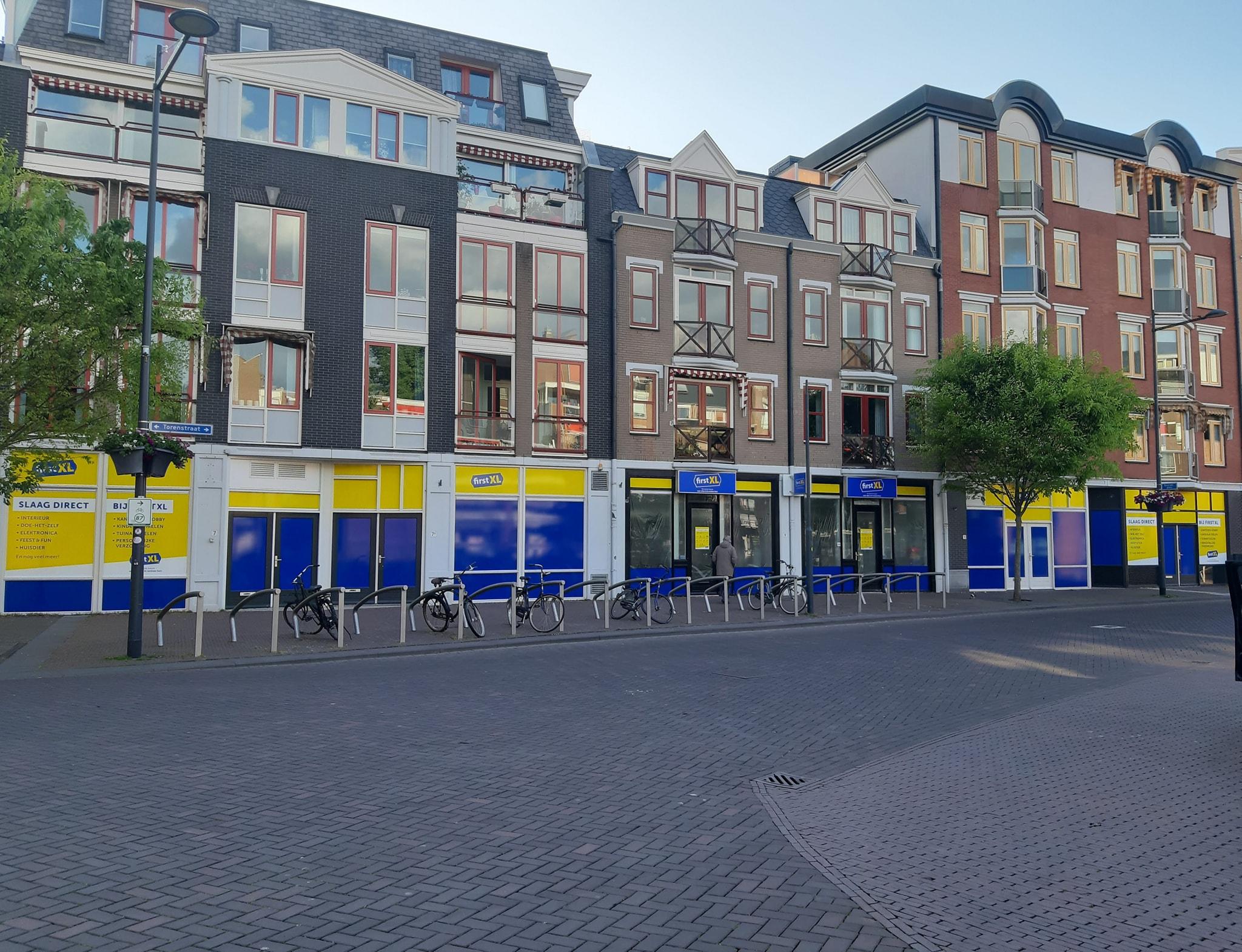 GevelsTorenstraat blauw geel