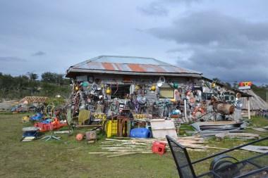 Campingplatz Hain, Tolhuin: Andere verputzen ihr Haus