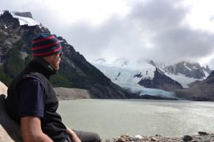 Andreas wartet noch auf den wolkenfreien Cerro Torre