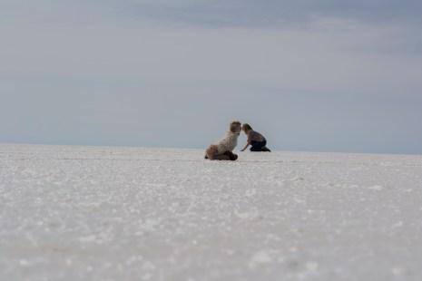 Salar de Uyuni - Horst und Julia