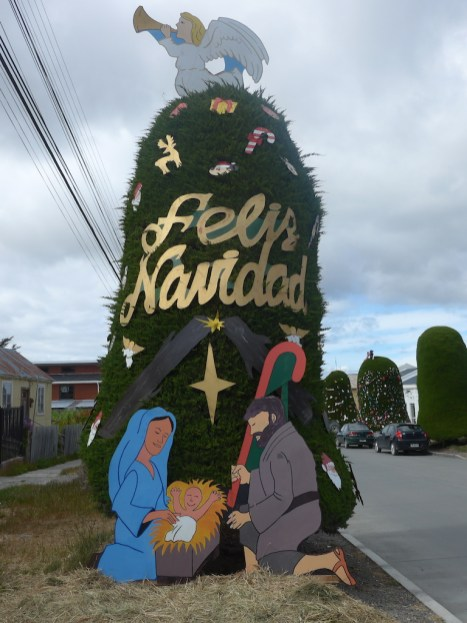 Weihnachtsbaum in Porvenir