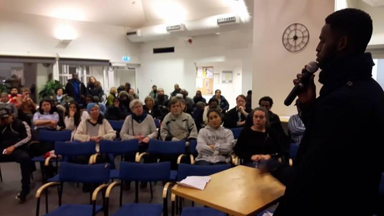 Stor uppslutning trots kort varsel på Järva Café 7e December