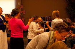 Children receiving the Holy Ghost
