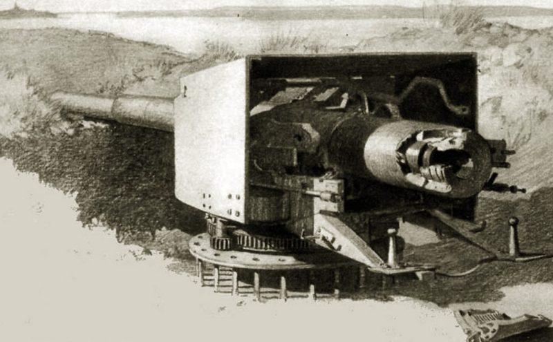 Top 14 cm M1893 uništen 9 oktobra 1915. na položaju Samar