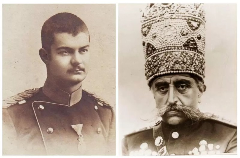 Kralj Aleksandar I Obrenović (1876-1903) i iranski šah Muzafar ad Din (1853-1907).