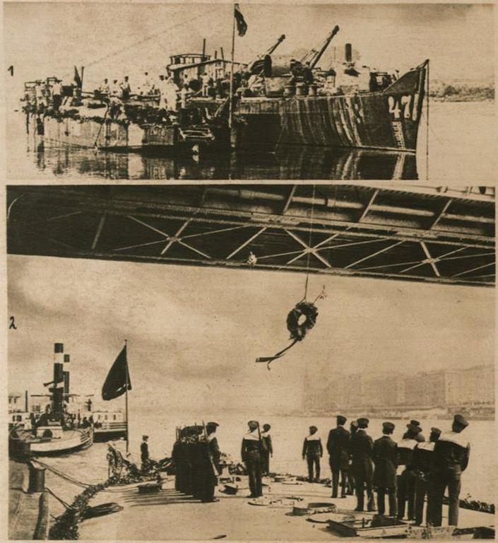 Izvlačenje monitora 10. jula i doček u Budimpešti 2. avgusta 1916