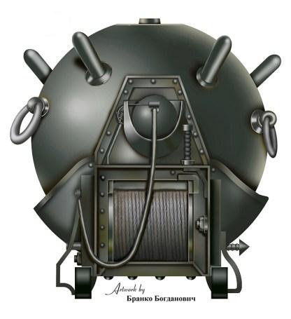 Ruska galvansko-udarna mina M1908. Rekonstrukcija B. Bogdanović