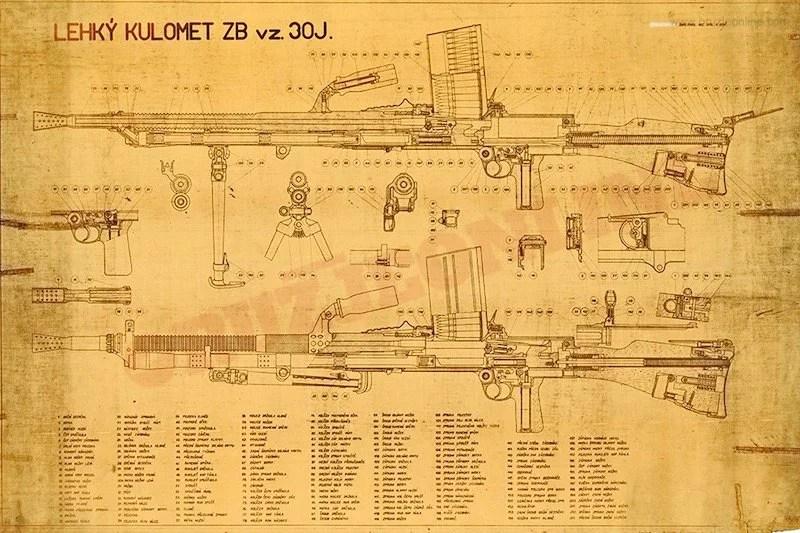 Originalni tehnički crtež PM ZB 30J - M37-1