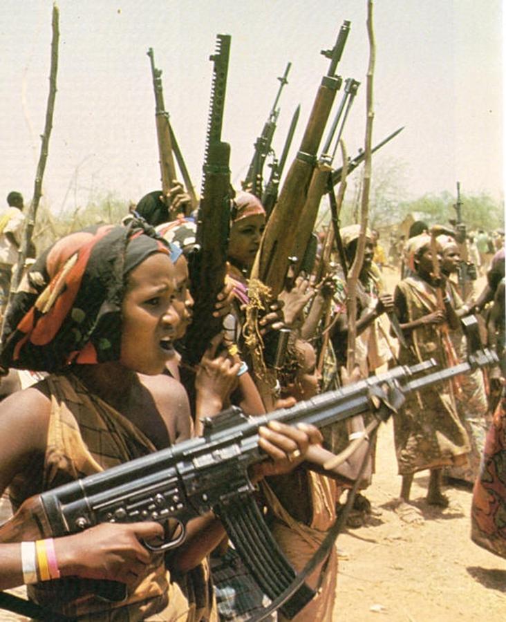 Rat u Ogadenu 1977-1978 borci WSLF naoružani StG-44