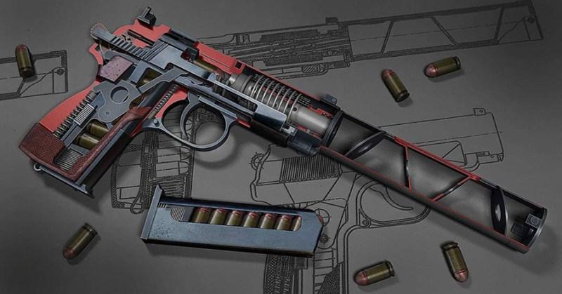 Presek prigušenog pištolja PB