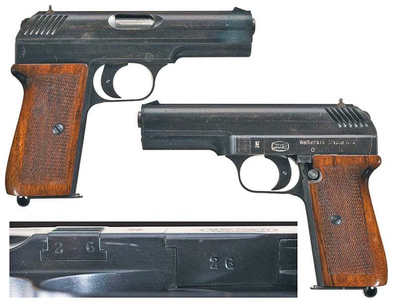 Pištolj Nickl za metak 9mm Nickl, proizvodnja Waffenfabrik Mauser A.G. /Oberndorf a.N