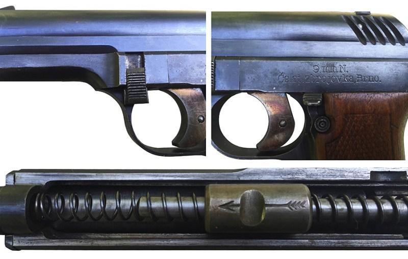 Detalji pištolja Nickl (''N'', vz.22)