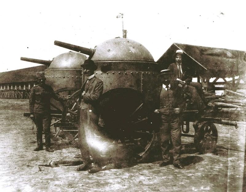 Bugarska oruđa sistema Gruzon, zaplenjena 1913. Banjica, Beograd, 1914.