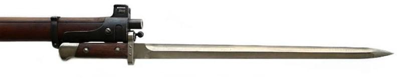 Jelenov bajonet sa dvooštričnim sečivom ''dijamantskog'' preseka, dužine 400 mm. Foto Jan Skramoušský, Mauser podle Jelena, Vojenski historickéhi ústav.