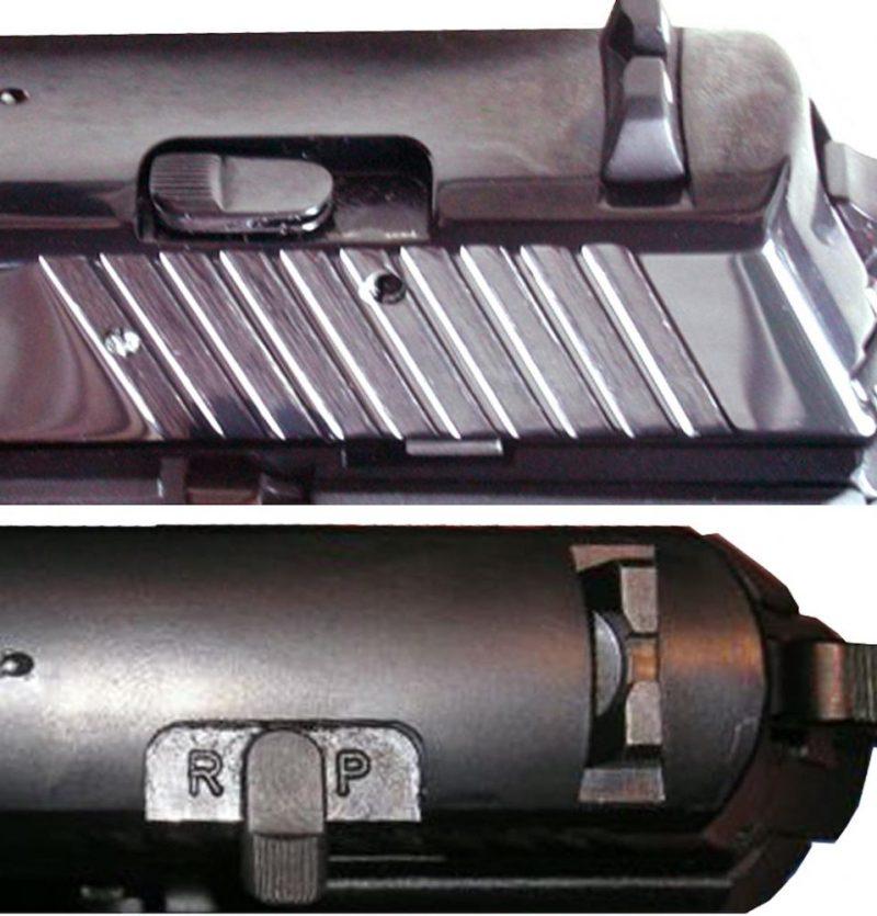 Poluga na navlaci za izbor pištolјskog ili revolverskog režima na CZ-999