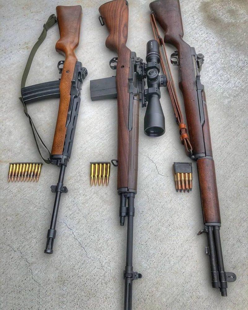 Garand M1, M14 i Ruger Mini 14