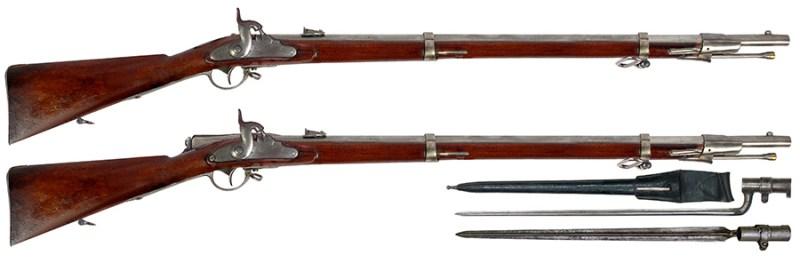 Originalna sprednjača 13.9mm Lorenc M1859 (gore) i adaptirana u ostragušu sistema Grin M1867