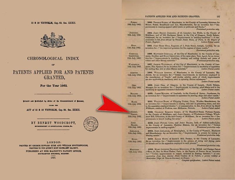 Patent braće Grin iz 1862 godine