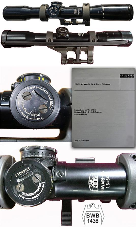 Opticki nisanHensoldt Fero Z24 4 ×24 Carl Zeiss Diavari-DA 1.5-6x