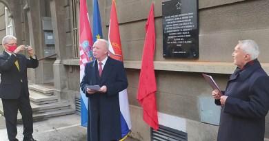 U ZAGREBU POSTAVLJENA SPOMEN-PLOČA POVODOM 75-GODIŠNJICE POBEDE NAD FAŠIZMOM