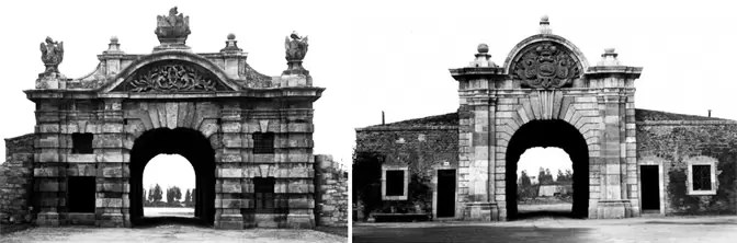 Izgledi rekonstruisane kapije Karla VI 1943. godine. Foto D. Jovanović