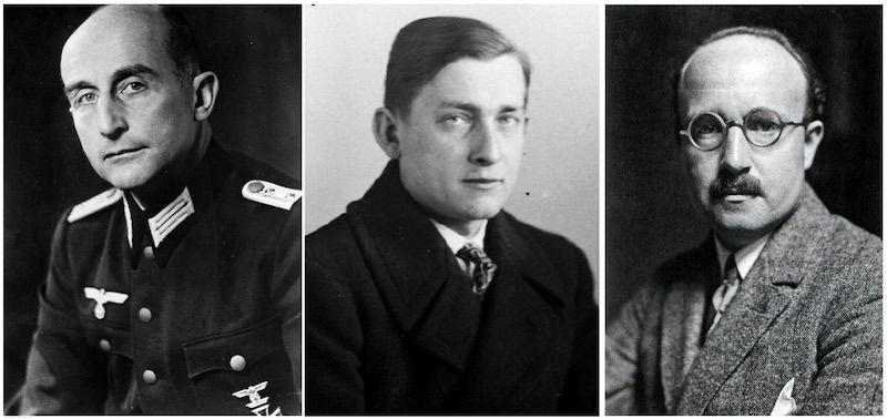 Verner Julius Marh (1894-1976), Johan Albreht fon Rajsvic (1899-1962), Vilhelm Unvercagt (1892-1971)