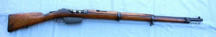 """Petometna brzometna puška """"Mauzer Milovanović Đurić M1880/1907 (M80/07)"""" - službeno oružje Kneževine Srbije u kalibru 7×57 mm Mauzer"""