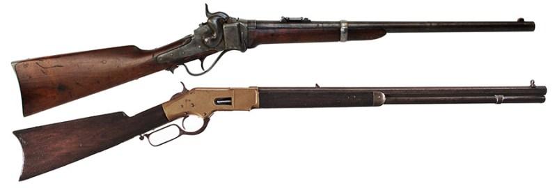 Karabini .50-70 Sharps M1863 i .44 Winchester M1866. rendžeri