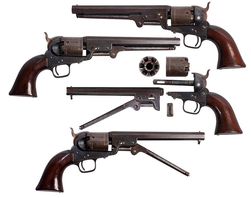 Austrijski mornarički revolver London Colt Navy 1851, broj 33.388