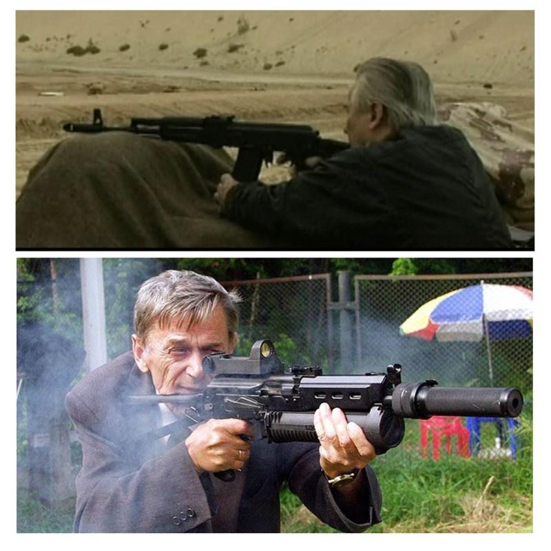 Otac i sin Kalasnikov - svako puca iz svog oruzja