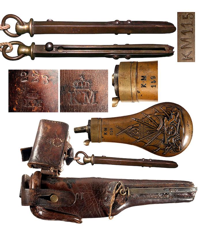Pribor uz pruski mornarički revolver sistema Kolt sa žigovima KM