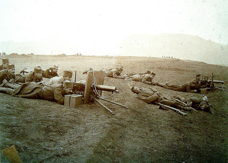 Mitraljezi 7 mm M1909 na položajima