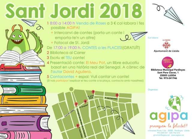 Activitats d'Agipa a Pardinyes per Sant Jordi