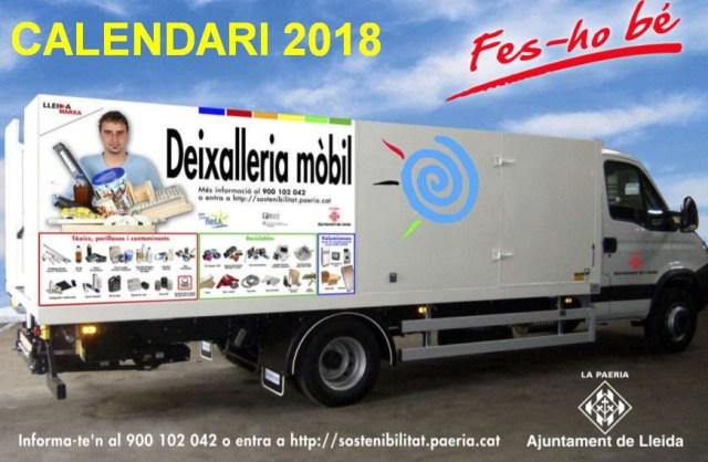 Dixalleria Mòbil Calendari 2018
