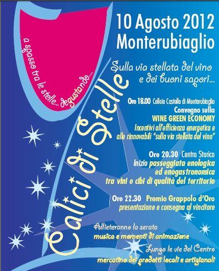 """""""Calici di stelle"""" il 10 agosto a Monterubiaglio"""