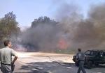 Uomini e mezzi della polizia provinciale impegnati nella campagna antincendio