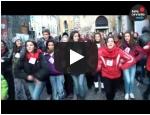 Flash mob ad Orvieto per dire BASTA alla violenza sulle donne!