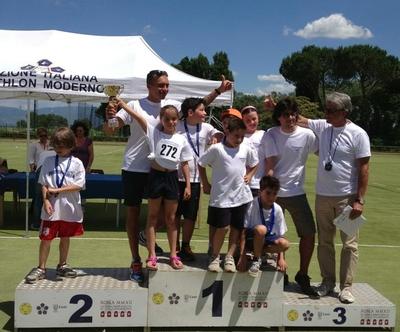 """Trofeo Nazionale di Pentatlhon Moderno. Debutto della squadra orvietana """"Pertica"""""""