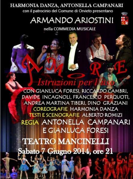 """Commedia musicale """"Amore. Istruzioni per l'uso"""" con Armando Ariostini"""