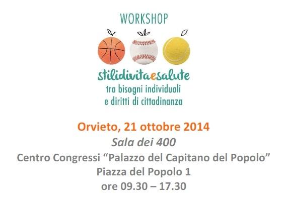 """Workshop """"Stili di vita e salute"""""""