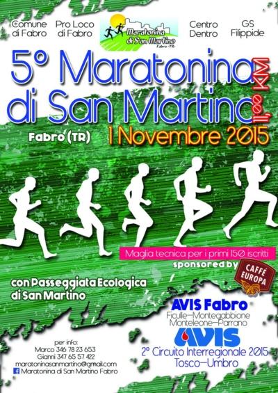 5° Maratonina di San Martino di Fabro. 1 novembre