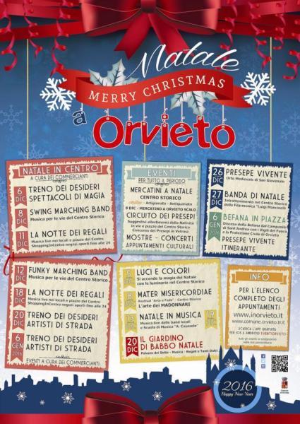 Orvieto pronta al Natale. Eventi, parcheggi gratis per residenti a Orvieto e nei paesi dell'Orvietano